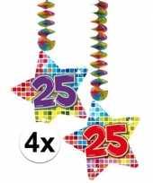 Hangversiering 25 jaar 4 stuks trend