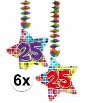 Hangversiering 25 jaar 6 stuks trend