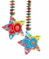 Hangversiering 30 jaar 2 stuks trend