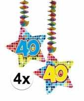 Hangversiering 40 jaar 4 stuks trend