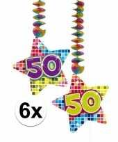 Hangversiering 50 jaar 6 stuks trend