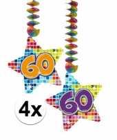 Hangversiering 60 jaar 4 stuks trend
