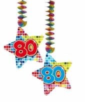 Hangversiering 80 jaar 2 stuks trend