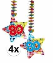 Hangversiering 80 jaar 4 stuks trend