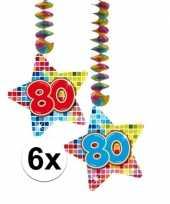 Hangversiering 80 jaar 6 stuks trend
