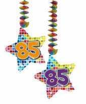 Hangversiering 85 jaar 2 stuks trend
