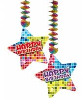 Hangversiering happy birthday 2 stuks trend