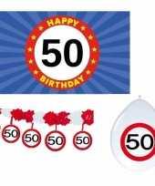 Happy birhday verjaardag pakket versiering 50 jaar trend