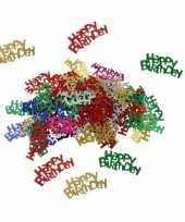 Happy birthday decoratie confetti 60 gram trend