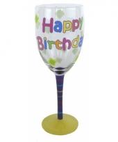 Happy birthday glas voor elke verjaardag trend