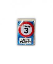 Happy birthday leeftijd kaart 3 jaar trend