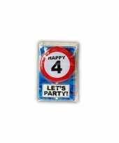 Happy birthday leeftijd kaart 4 jaar trend