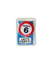 Happy birthday leeftijd kaart 6 jaar trend