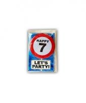 Happy birthday leeftijd kaart 7 jaar trend
