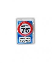 Happy birthday leeftijd kaart 75 jaar trend