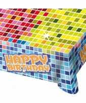 Happy birthday tafelkleed 130x80 cm trend