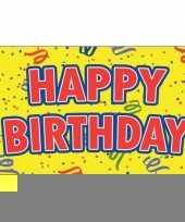 Happy birthday verjaardag feest vlag 90 x 150 cm trend