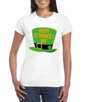 Happy st patricksday shirt t-shirt wit dames trend