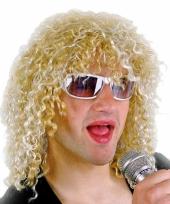 Hardrockers herenpruik blond trend