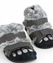 Harige eskimo voeten sloffen voor volwassenen trend