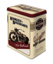 Harley davidson bewaarblik wit 20 cm trend