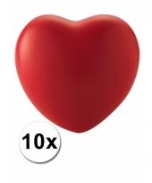 Hart stressballetjes 10 stuks trend