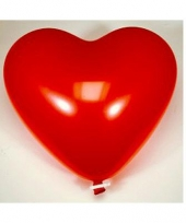 Hartjes ballonnen rood 54 cm trend