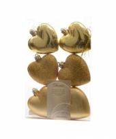 Hartjes kerstballen hangers goud trend