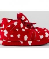 Hartjes pantoffels rood voor dames trend