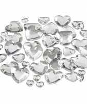 Hartjes strasstenen zilver 252 stuks trend