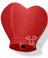 Hartvormige wensballonnen rood 100 cm trend