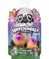 Hatchimals colleggtibles 2 stuks geel roze met nest seizoen 3 trend