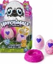 Hatchimals colleggtibles 2 stuks roze met nest seizoen 2 trend