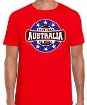 Have fear australia is here australie supporter t-shirt rood voor heren trend