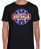 Have fear australia is here australie supporter t-shirt zwart voor heren trend