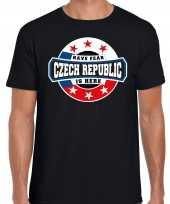 Have fear czech republic is here t-shirt voor tsjechie supporters zwart voor heren trend