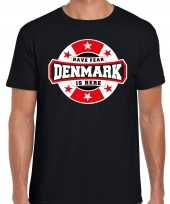Have fear denmark is here denemarken supporter t-shirt zwart voor heren trend