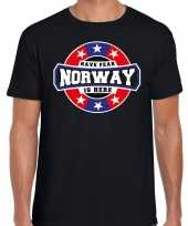 Have fear norway is here noorwegen supporter t-shirt zwart voor heren trend