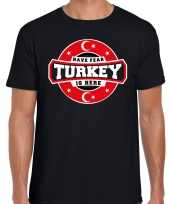 Have fear turkey is here turkije supporter t-shirt zwart voor heren trend