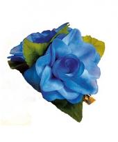 Hawaii accessoire blauwe roos haarklem trend