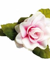 Hawaii accessoire roze roos haarklem trend
