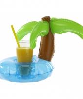 Hawaii feestje palmboom drank houder 22 cm trend