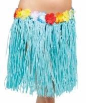 Hawaii rokje blauw 45 cm trend