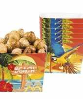 Hawaii snackbakjes 6 stuks trend