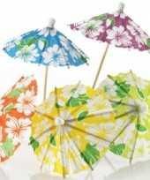 Hawaii thema ijs parasols 24 stuks trend