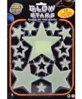 Heelal decoratie glow in the dark sterren 13 stuks trend