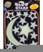 Heelal decoratie glow in the dark sterren maan 13 stuks trend
