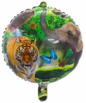 Helium ballon safari dieren 45 cm trend