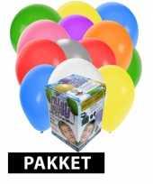 Helium tank met 50 gevarieerde ballonnen trend