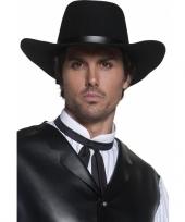 Heren cowboyhoed zwart trend
